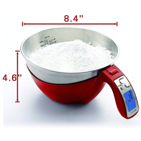 camry 11lb 5kg precision digital mixing bowl kitchen scale