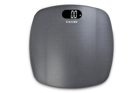 Camry 400lbs / 180kgs Digital Bathroom Scale White Backlight LCD Display ABS Super Comfort Plastic (Dark Gray)