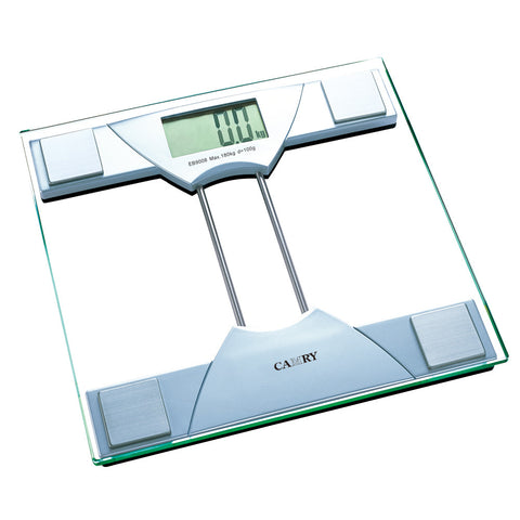 Camry 400lbs / 180kgs Electronic Personal Scale with 4 high precision strain gauge sensors system (Silver/ Black)