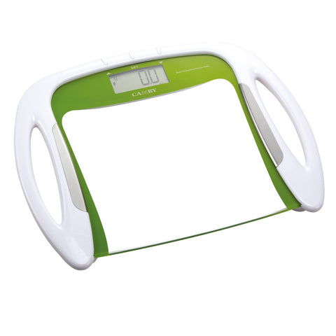 Camry 330lbs / 150kgs Body Fat/Hydration Monitor Scale Big LCD display with convenient handles with 12 memories (Green/Black)