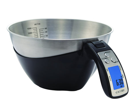 ... Camry 11lb / 5kg Precision Digital Mixing Bowl Kitchen Scale Stainless  Steel Five Measuring Modes