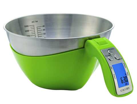 Camry 11lb / 5kg Precision Digital Mixing Bowl Kitchen Scale Stainless Steel Five Measuring Modes