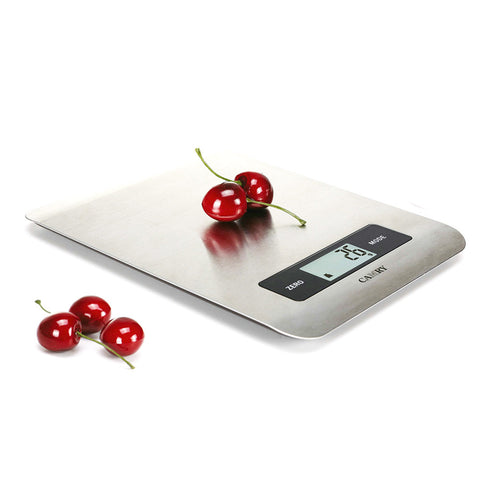 CAMRY 5kg 11lbs Electronic Kitchen Food Scale Food Ultra Slim Stainless  Steel