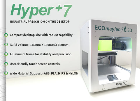 The latest in the range of ECOmaylene3D Printers