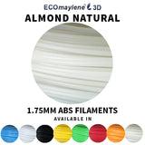 ECOmaylene3D - ABS 1.75 MM | Almond Natural