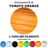 ECOmaylene3D - ABS 1.75 MM | Tomato Orange
