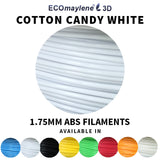 ECOmaylene3D - ABS 1.75 MM | Cotton Candy White