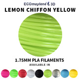 ECOmaylene3D - PLA 1.75MM |  Lemon Chiffon Yellow