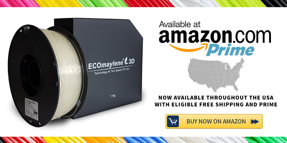 ECOmaylene3D Filaments now Available on Amazon.com