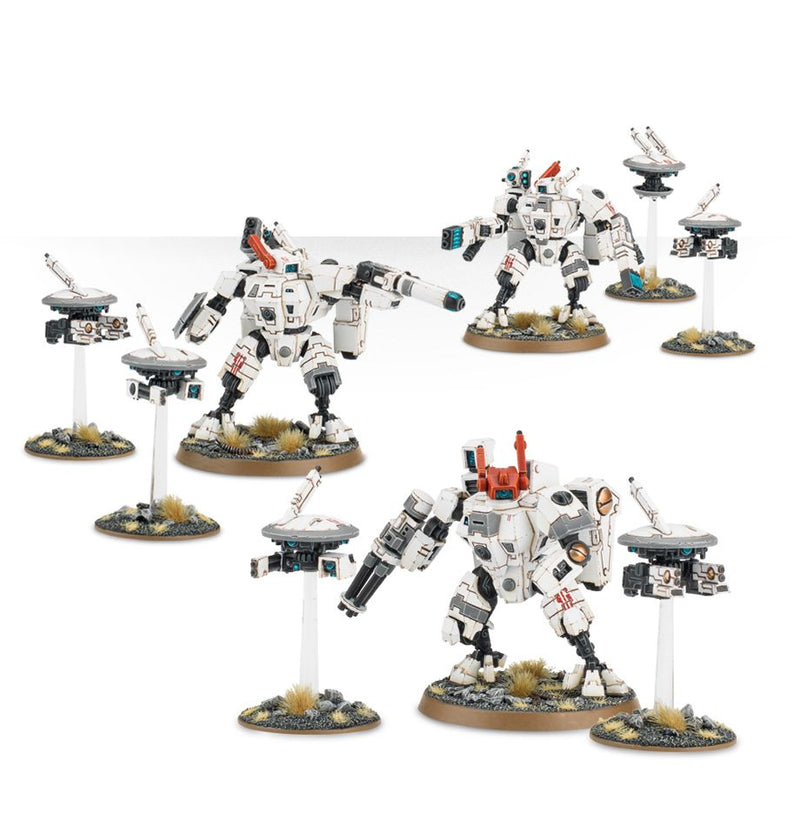 Warhammer 40K: Tau Empire XV8 Crisis Battlesuit Team