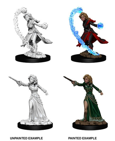 Pathfinder Minis: Female Human Wizard