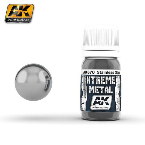 AK-Interactive: (Metalics) XTREME METAL STAINLESS STEEL 30ml