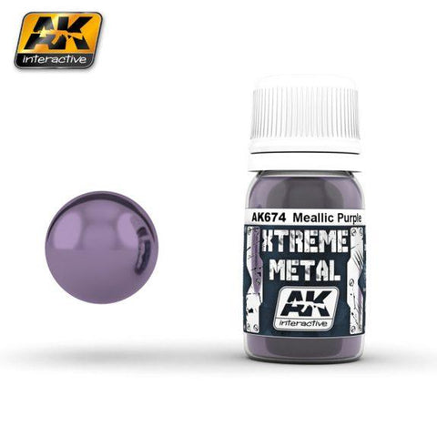 AK-Interactive: (Metalics) XTREME METAL METALLIC PURPLE 30ml