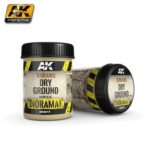 AK-Interactive: (Texture) TERRAINS DRY GROUND - 250ml (Acrylic)
