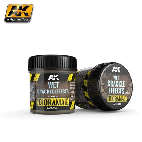 AK-Interactive: (Texture) WET CRACKLE EFFECTS - 100ml (Acrylic)
