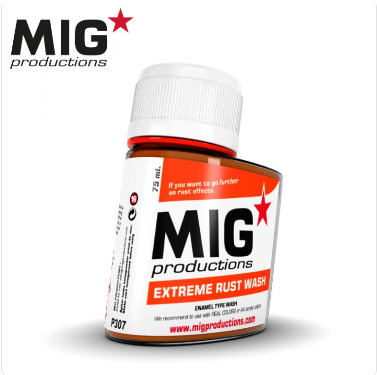 MIG Productions: (Washes & Effects) Extreme Rust Wash (75ml)