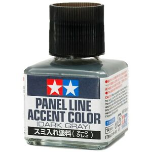 Tamiya: Dark Gray Panel Line Accent Color (40ml Bottle)