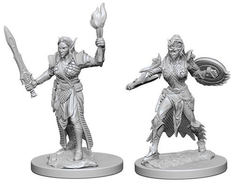 Pathfinder Minis: Elf Female Fighter