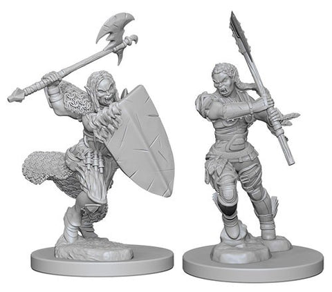 Pathfinder Minis: Half-Orc Female Barb
