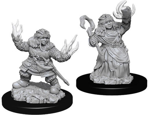 Pathfinder Minis: Female Dwarf Summoner