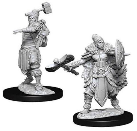 D&D Minis: Female Half-Orc Barbarian (Wave 9)