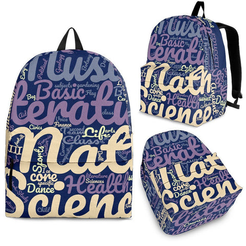 All Subjects Designer  Back-to-School Backpack
