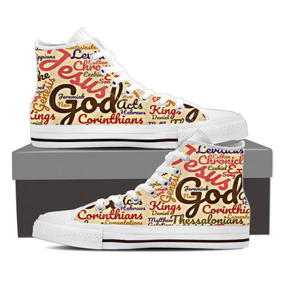 Exclusive The Holy Bible Books Women's High Top Canvas Shoe