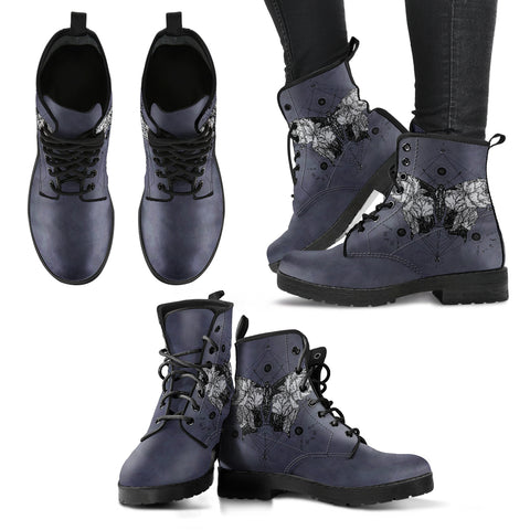Dark Butterfly Women's Leather Boots
