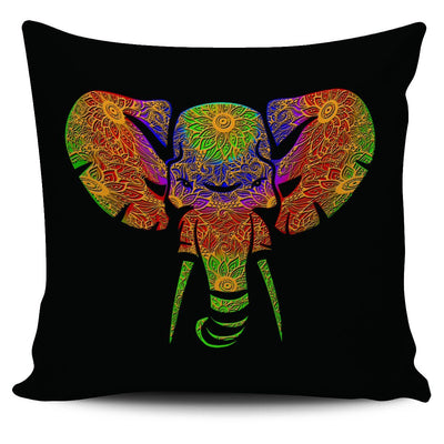 Floral Elephant1 Pillow Case