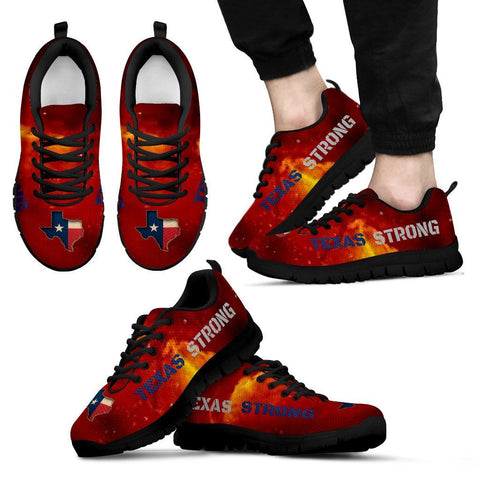 Texas Strong Running Shoes Red Yellow Galaxy