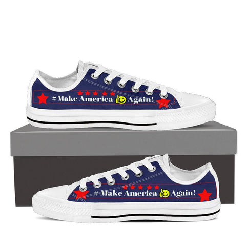 "Make America ""Emoji"" Women Low Cut Sneakers"