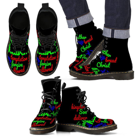 Colored Lord's Prayer Men's Boots