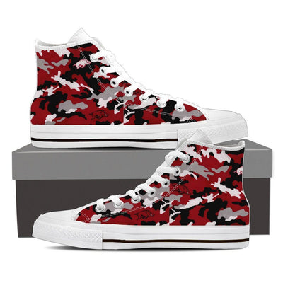 Camouflage Women High Top Canvas Sneakers