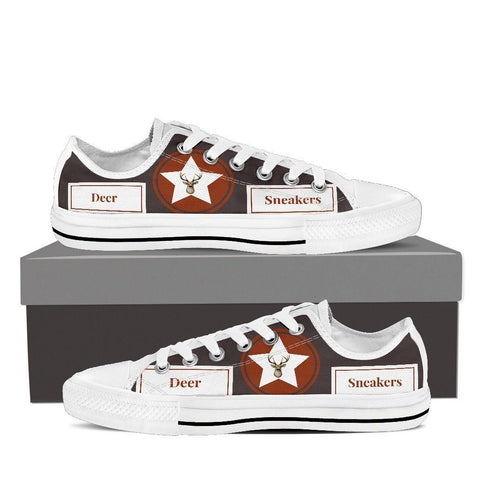 Deer Women's Low Top Canvas Shoe