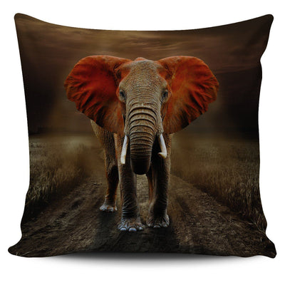 Orange Elephant Pillow Case 2