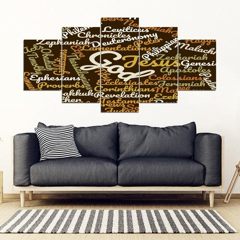 Unique Brown Bible Books Wall Canvas Art Decor