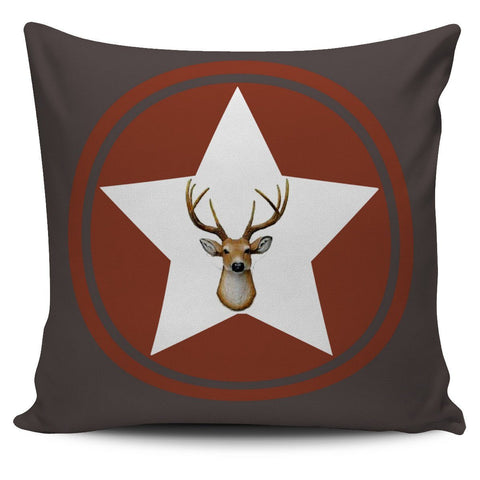 Deer Head Pillow Case