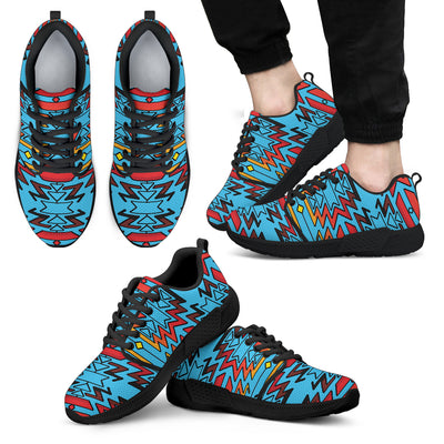 Turquoise Fire and Turquoises Sopo Men's Athletic Sneakers