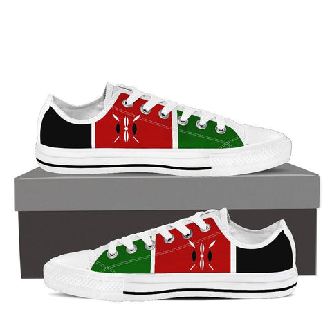 Kenya Flag Low Cut Canvas Shoes For Men & Women