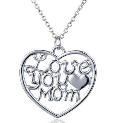 A Lovely I Love You Mom Gift Pendant Necklace