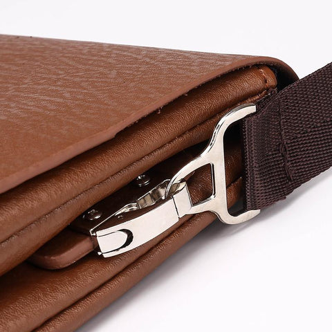 Latest Arrival Bilayer Leather Messenger  Men's  Leisure & Business Bag Plus Wallet