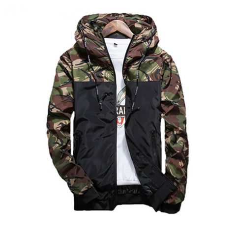 Hot Designer Hooded  Men's Camouflage  Casual Jacket Clothing Windbreaker Coat
