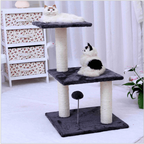 3 Floors Cat Climbing Frame Assemby DIY