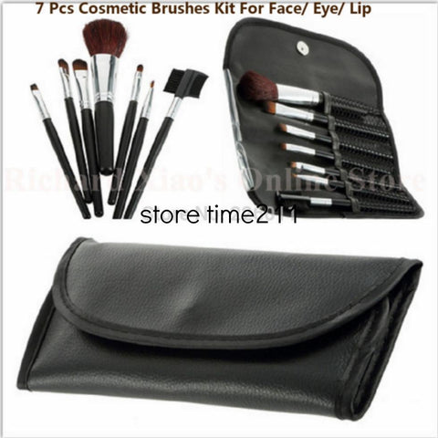 Hot Professional Goat Hair 7 Pcs Makeup Brush Set Tools & Cosmetic Make Up Brush Set