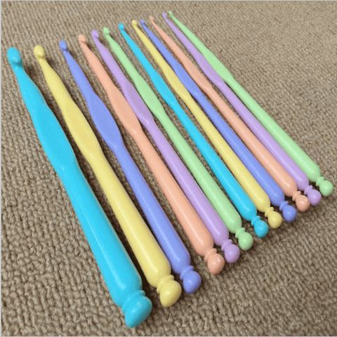 12 Pcs Set New ABS Plastic Crochet Hooks