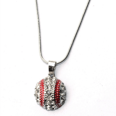 Baseball pendant Necklace