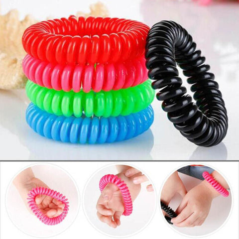 Brand New Natural Plant Oils Phone Strap Elastic Hand Ring Coil  Mosquito Repellent Bracelet