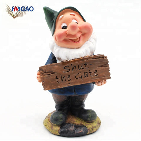 Cute Oem Cheap Funny Gate Closing Sign Resin Gnomes Statues Garden Dwarfs For Lawn Garden Decor - Buy Garden Dwarfs,Seven Dwarfs Garden Statues,Garden Seven Dwarfs Decor Product on Alibaba.com