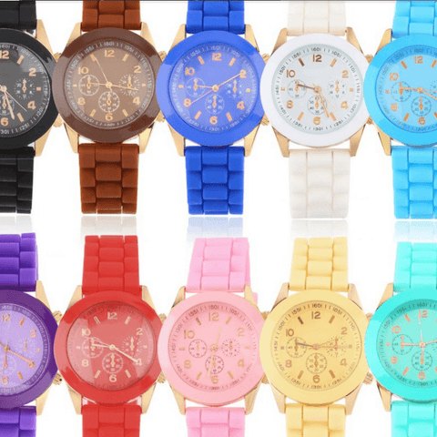 Geneva Women Jelly  Sports Wrist Dress Brand Casual Watches