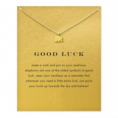 Sparkling Lucky Elephant Women Pendant Necklace